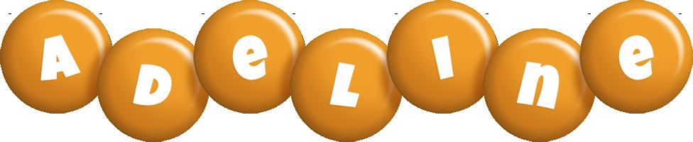 Adeline candy-orange logo
