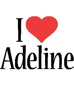 Adeline i-love logo