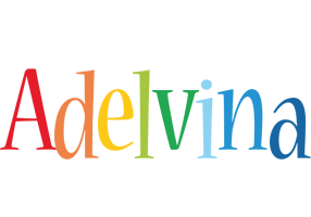 Adelvina birthday logo