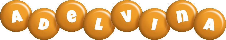 Adelvina candy-orange logo