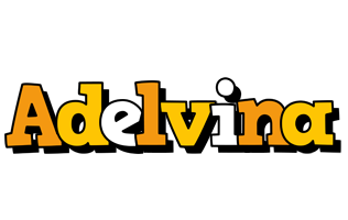 Adelvina cartoon logo