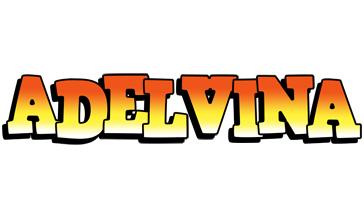 Adelvina sunset logo