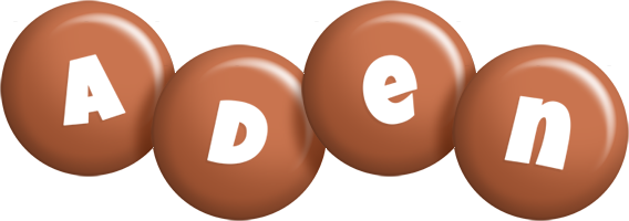 Aden candy-brown logo