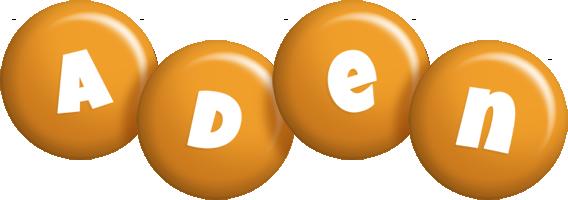 Aden candy-orange logo