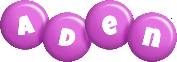 Aden candy-purple logo
