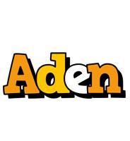 Aden cartoon logo