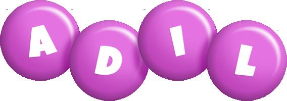 Adil candy-purple logo