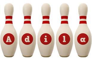 Adila bowling-pin logo