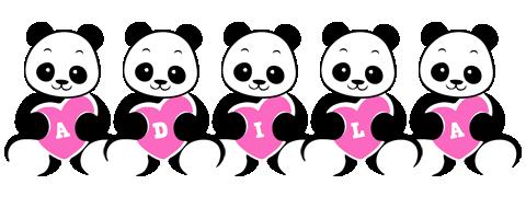 Adila love-panda logo