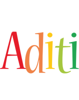 Aditi birthday logo
