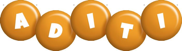 Aditi candy-orange logo
