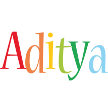 Aditya birthday logo