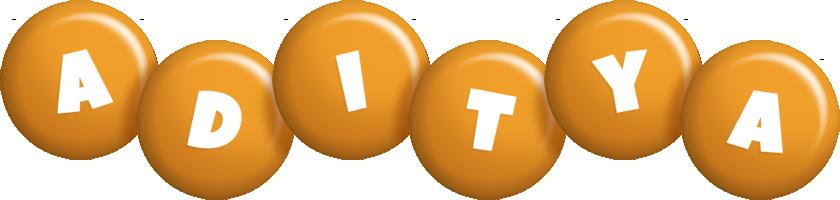 Aditya candy-orange logo