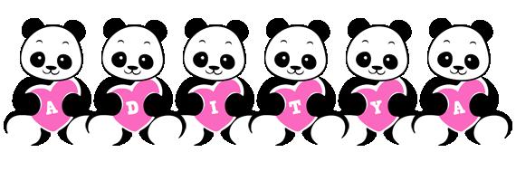Aditya love-panda logo