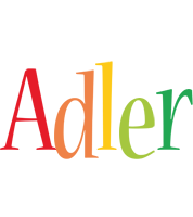 Adler birthday logo