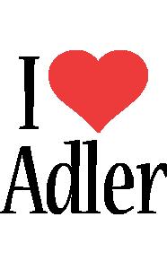 Adler i-love logo