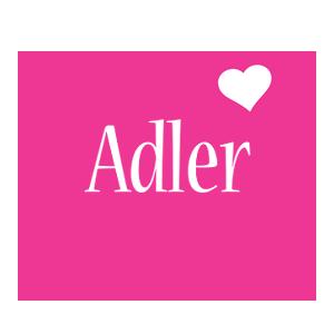 Adler love-heart logo
