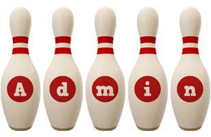 Admin bowling-pin logo