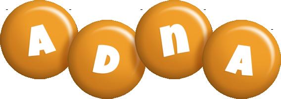 Adna candy-orange logo