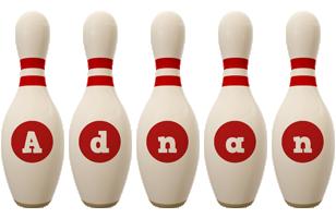 Adnan bowling-pin logo