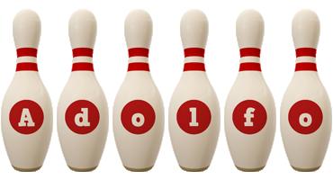 Adolfo bowling-pin logo