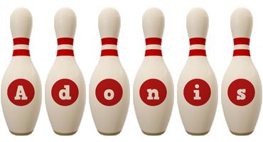 Adonis bowling-pin logo