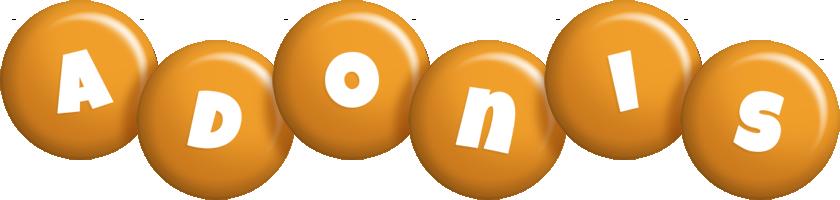Adonis candy-orange logo