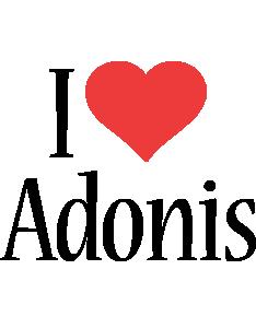 Adonis i-love logo