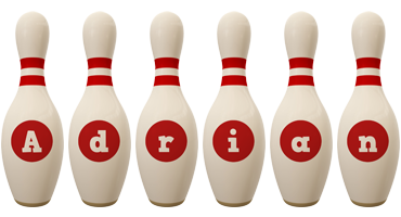 Adrian bowling-pin logo