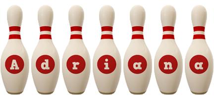 Adriana bowling-pin logo
