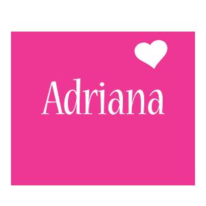 Adriana love-heart logo