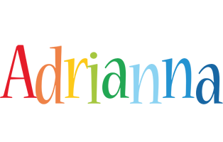 Adrianna birthday logo