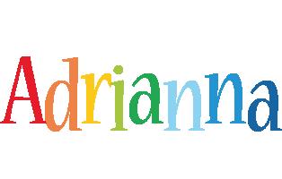 Adrianna birthday logo