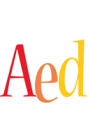Aed birthday logo