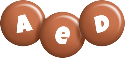Aed candy-brown logo