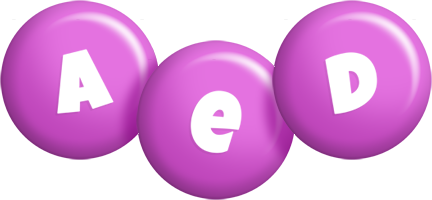 Aed candy-purple logo