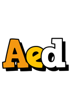 Aed cartoon logo