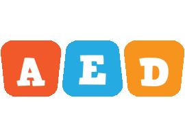Aed comics logo