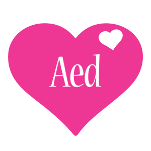 Aed love-heart logo