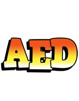 Aed sunset logo