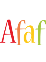 Afaf birthday logo