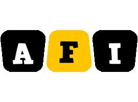 Afi boots logo