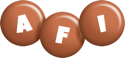 Afi candy-brown logo