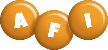 Afi candy-orange logo