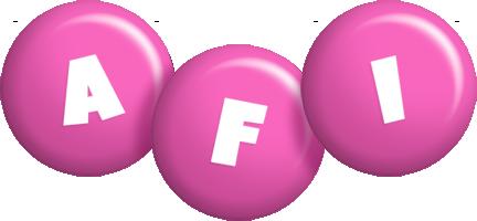 Afi candy-pink logo