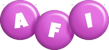 Afi candy-purple logo