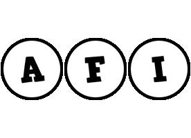 Afi handy logo
