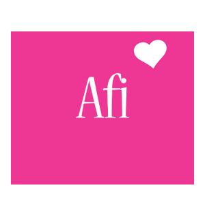 Afi love-heart logo