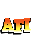 Afi sunset logo