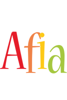 Afia birthday logo